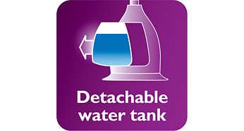 Odłączany, przezroczysty zbiornik wody z higienicznym otworem wlewowym
