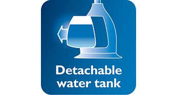 Išimamas skaidrus vandens bakelis su higieniška įleidimo anga