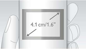 "Easy to read 4.1 cm (1.6"") display with backlight"