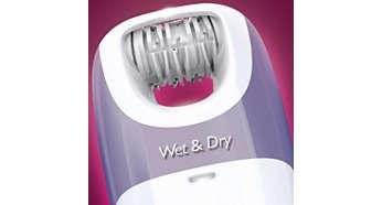Utilisable sous l'eau ou à sec, sous la douche ou dans le bain
