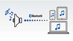 Streaming wireless di file musicali tramite Bluetooth