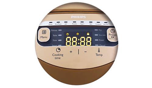 Łatwy w obsłudze czujnik dotykowy i czytelny wyświetlacz cyfrowy