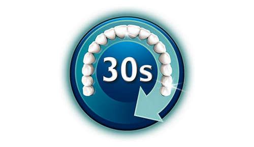 Nettoie la totalité de votre bouche en 30secondes chrono