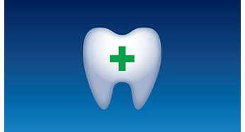 Hjälper till att förhindra hål i tänderna där det är svårt att komma åt