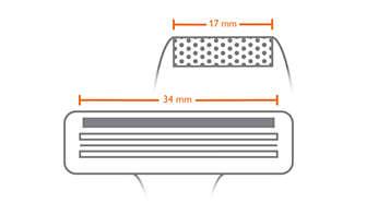 La afeitadora con lámina para detalles se adapta mejor a espacios pequeños que una cuchilla