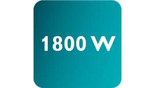Potencia de hasta 1800W para una salida de vapor alta y continua