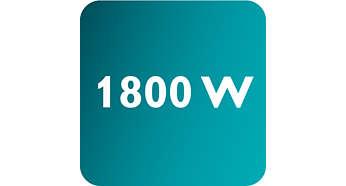최대 전원 1800W로 강력한 연속 스팀 분사 가능