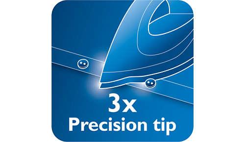 Dreifach-Präzisionsspitze für optimale Kontrolle und Sichtbarkeit