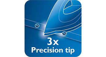 Ponta de precisão tripla para controlo e visibilidade perfeitos