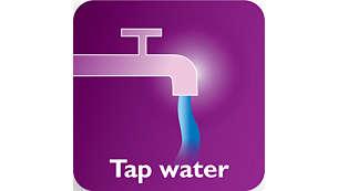 Eau du robinet utilisable grâce au système anticalcaire Double Action