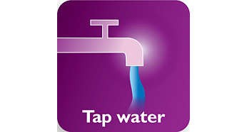 Suitable for tap water with Double Active Calc Clean system