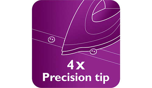 Quattro Precision-voorkant om moeiteloos lastige plekjes te strijken