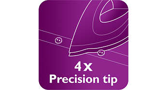 Quattro Precision Tip for easy reach in tricky areas