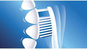 Upozorní vás, když na zuby kartáčkem příliš tlačíte