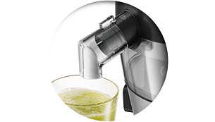 Pressa juice direkt i glaset
