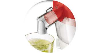 Wyciskanie soku prosto do szklanki
