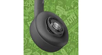 Feinabgestimmte 40mm Lautsprecher für klaren und natürlichen Sound