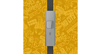 Przełączanie z trybu słuchania muzyki na rozmowy telefoniczne dzięki wbudowanemu mikrofonowi