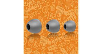 Επιλέξτε ένα από τα 3 ζευγάρια ακουστικών, για άψογη εφαρμογή