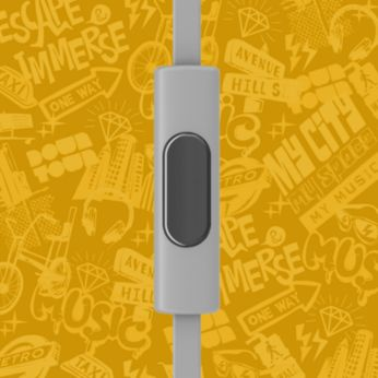 Switch from music to phone calls with built-in microphone