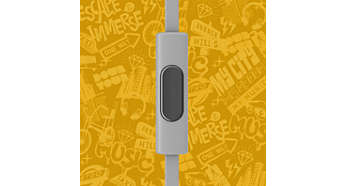 Cambia entre música y llamadas telefónicas con el micrófono integrado