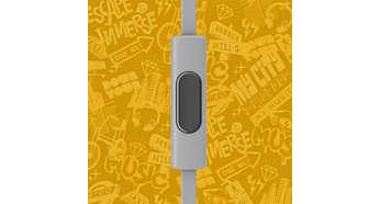 Beralih dari musik ke panggilan telepon dengan mikrofon terpasang