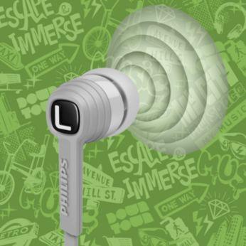controladores de 9 mm finamente sintonizados ofrecen un sonido claro y dinámico de graves