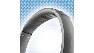 Headband's soft inner cushion evens out wearing pressure