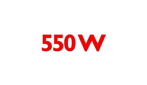 Krachtige 550 W motor