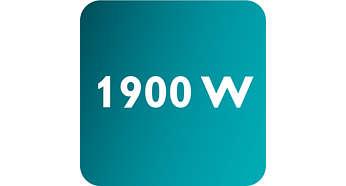 최대 전원 1900W로 강력한 연속 스팀 분사 가능