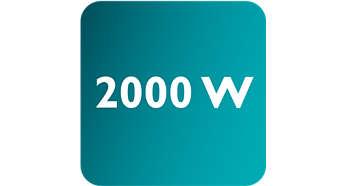 Effekt op til 2000 W muliggør konstant høj dampmængde