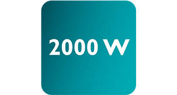 Leistung von bis zu 2.000W für durchgehend hohen Dampfausstoß