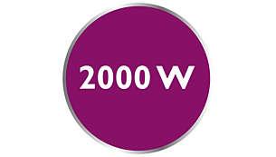 قوة تصل إلى 2000 واط للحصول على إخراج بخار ثابت وكثيف
