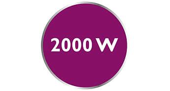 Moc do 2000 W umożliwia ciągłe wytwarzanie dużej ilości pary