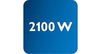 Výkon až 2100W umožňuje súvislý a silný výstup pary