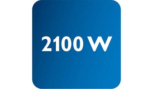 Leistung von bis zu 2.100W für durchgehend hohen Dampfausstoß