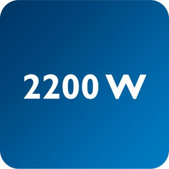 Výkon až 2200W umožňuje neustále silný výstup pary