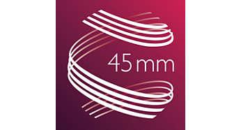 45 mm:n kuumalla muotoiluosalla pehmeitä laineita