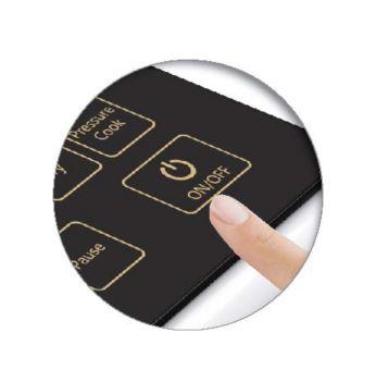 Sensor touch keys for ease of use