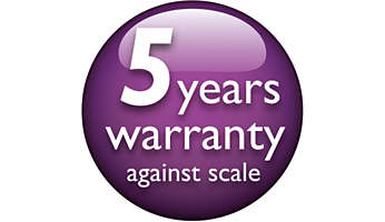 5-year warranty against scale