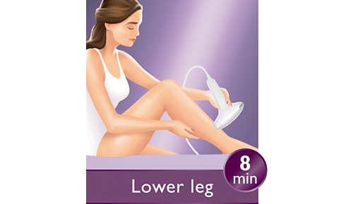 Include un accessorio più grande per il corpo per un trattamento veloce