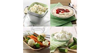 Krema kıvamındaki yoğurtlar, peynirler ve sütlü tatlılar için 5 ön ayar
