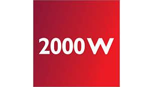 2000 W motor proizvaja moč sesanja 400 W
