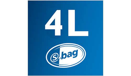 4 l støvkapacitet for lang tids rengøring