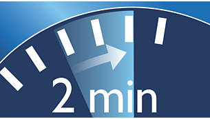 2 minute timer helps ensure recommended brushing time