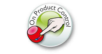 It's easy to change the color with the on-product control