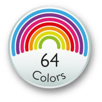Accendi l'immaginazione e scegli tra 64 colori diversi