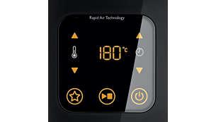 Digitaler Bildschirm zur leichten Einstellung von Zeit und Temperatur