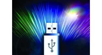 Přenos hudby mezi 2porty USB umožňuje snadné sdílení hudby