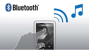 Stream music wirelessly via Bluetooth™ from your smartphone